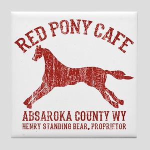 Longmire Red Pony Tile Coaster