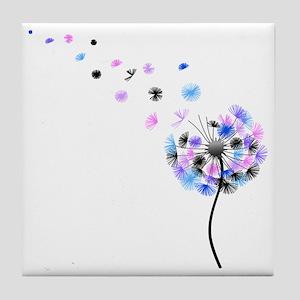Dandelion rainbow Tile Coaster