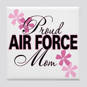 Proud Air Force Mom Tile Coaster