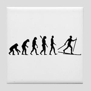 Evolution Cross country skiing Tile Coaster
