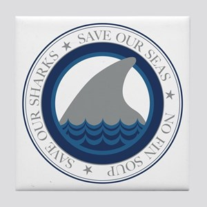 save our sharks Tile Coaster