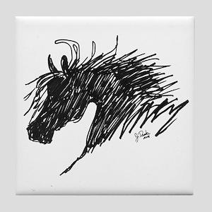 Horse Head Art Tile Coaster