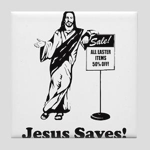 Jesus Saves! Tile Coaster