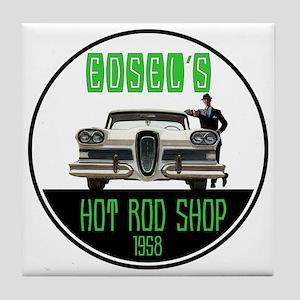 Edsel's Hot Rod Shop Tile Coaster