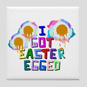 I Got Easter Egged Tile Coaster