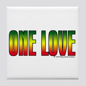 One Love Tile Coaster