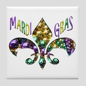 Mardi Gras Fleur Tile Coaster
