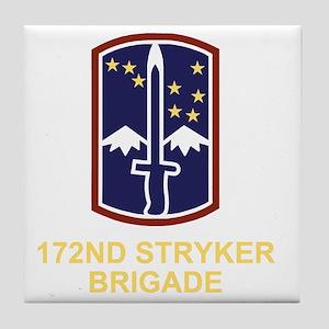 Army-172nd-Stryker-Bde-Black-Shirt-3 Tile Coaster