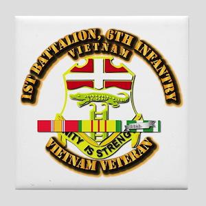 1st Battalion, 6th Infantry Tile Coaster