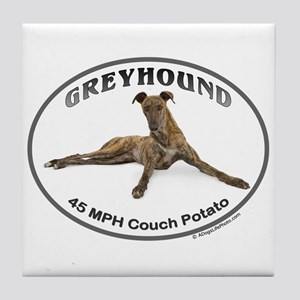 GVV Greyhound Couch Potato Tile Coaster