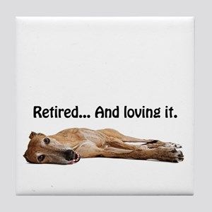 Greyhound Retired Tile Coaster