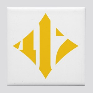412 White/Gold-W Tile Coaster