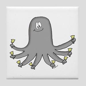 Octopus Handbells Tile Coaster