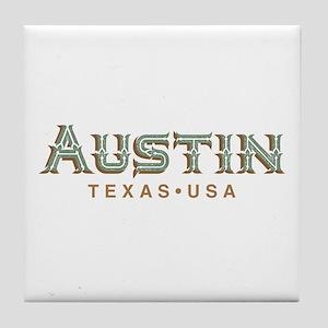 Retro Austin Tile Coaster