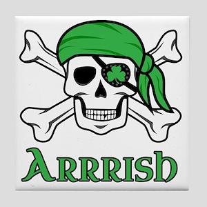 Irish Pirate Tile Coaster