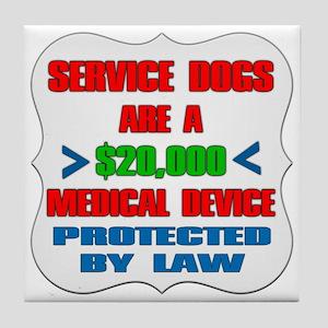 SERVICE DOG Tile Coaster
