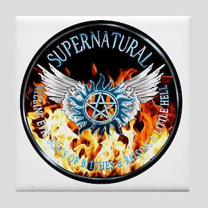 Supernatural  protection Symbal Flame Tile Coaster