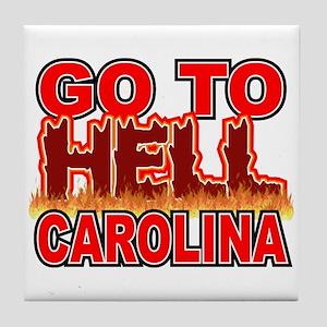 Go To Hell Carolina Tile Coaster