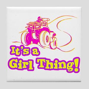 4x4 Girl Thing Tile Coaster