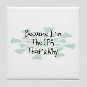 Because CPA Tile Coaster