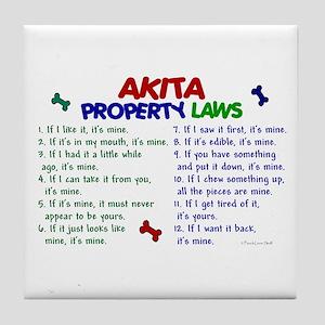 Akita Property Laws 2 Tile Coaster
