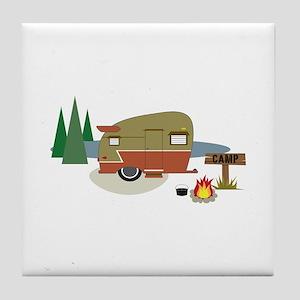 Camping Trailer Tile Coaster