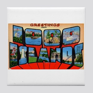 1000 Islands New York Tile Coaster