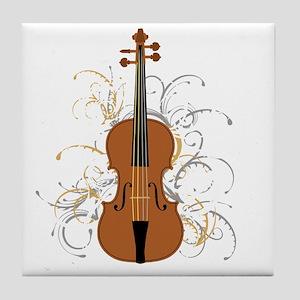 Violin Swirls (for dark colours) Tile Coaster