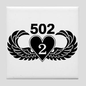 2-502 Black Heart Tile Coaster