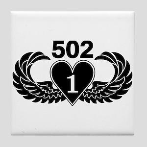 1-502 Black Heart Tile Coaster