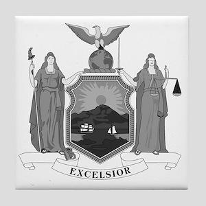New York State Flag Tile Coaster