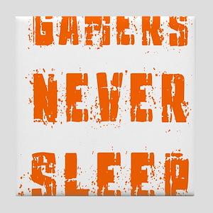 gamers never sleep Tile Coaster