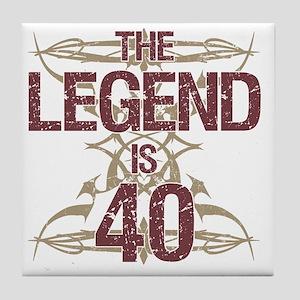 Men's Funny 40th Birthday Tile Coaster