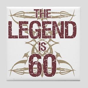 Men's Funny 60th Birthday Tile Coaster