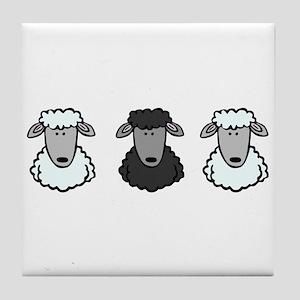 Black Sheep Of the Family Tile Coaster