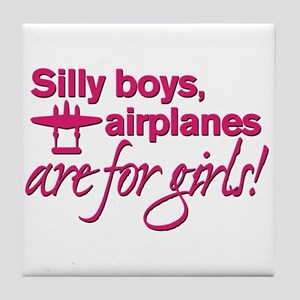 Silly boys... Tile Coaster