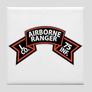 L Co 75th Infantry (Ranger) Scroll Tile Coaster
