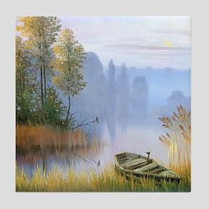 Lake Painting Tile Coaster