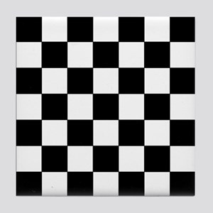 Checkered Pattern Tile Coaster