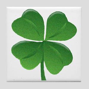 St Patrick Shamrock T Tile Coaster