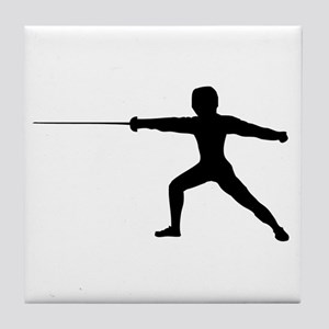 Guy Fencer Tile Coaster