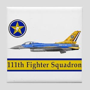 111th Fighter Squadron Tile Coaster