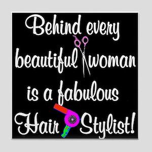 INSPIRING HAIR STYLIST Tile Coaster
