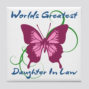 World's Greatest Daughter-In-Law Tile Coaster