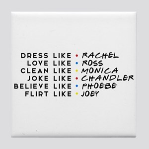 Dress Love Clean Joke Believe Flirt Tile Coaster