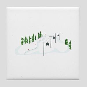 Ski Lift Tile Coaster
