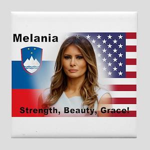 Melania Trump Tile Coaster