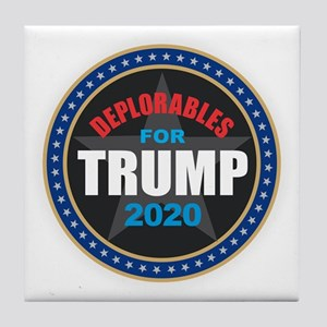 Deplorables for Trump 2020 Tile Coaster