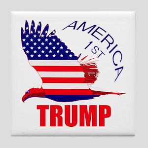 Trump America First Eagle Tile Coaster