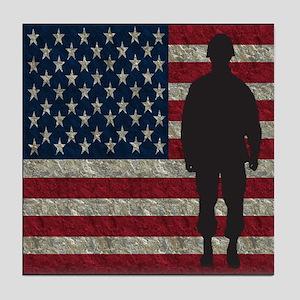 Usflag Soldier Tile Coaster